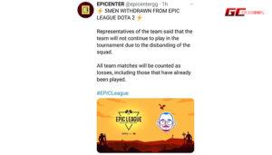 5men ถอนตัวจากรายการ EPIC League Division 2