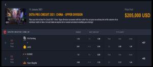 วันแรกของการแข่งขัน UpperDivision โซนChina