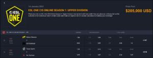 ESL One CIS Online SS1 UpperDivision